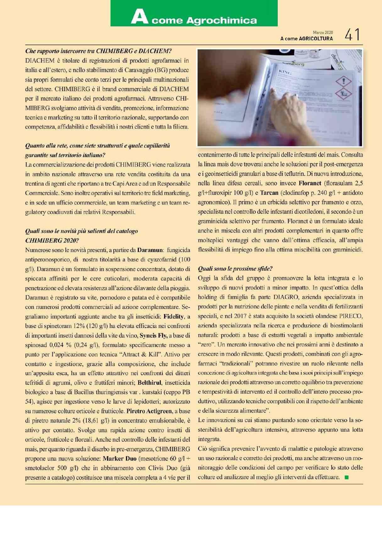 """Pag. 41 rivista """"A"""" come Agricoltura"""